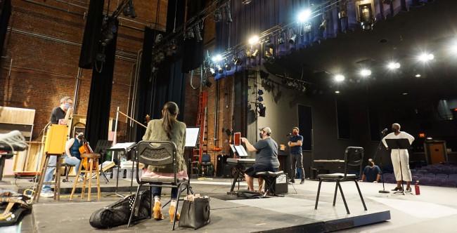Sitzprobe rehearsal, photo courtesy of Raleigh Symphony Orchestra
