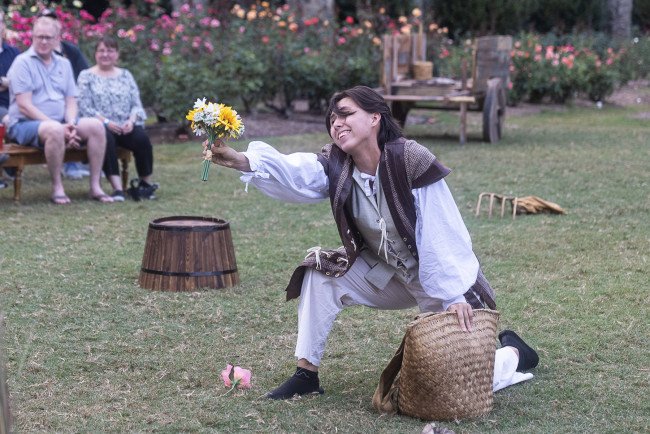 Lara Rydesky as Silvius in As You Like It, photo by Cindy McEnery
